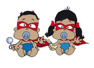 bebes Super Rrom y Romi